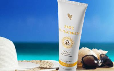 Protector solar de Aloe Vera orgánico para pieles sensibles
